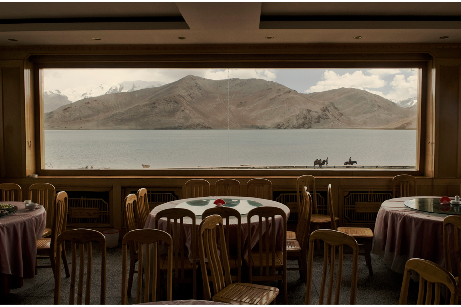 An empty restaurant with a view of Karakol Lake in 2008. Xinjiang's tourism industry took a major hit the following year in the aftermath of the Urumqi riots. Many Han Chinese are fearful of visiting the region despite its reputation, beautiful landscape, and distinctive culture. From January to April of this year, Xinjiang's Tourism Bureau offered domestic tourists a travel incentive of $80 if they visited the region.