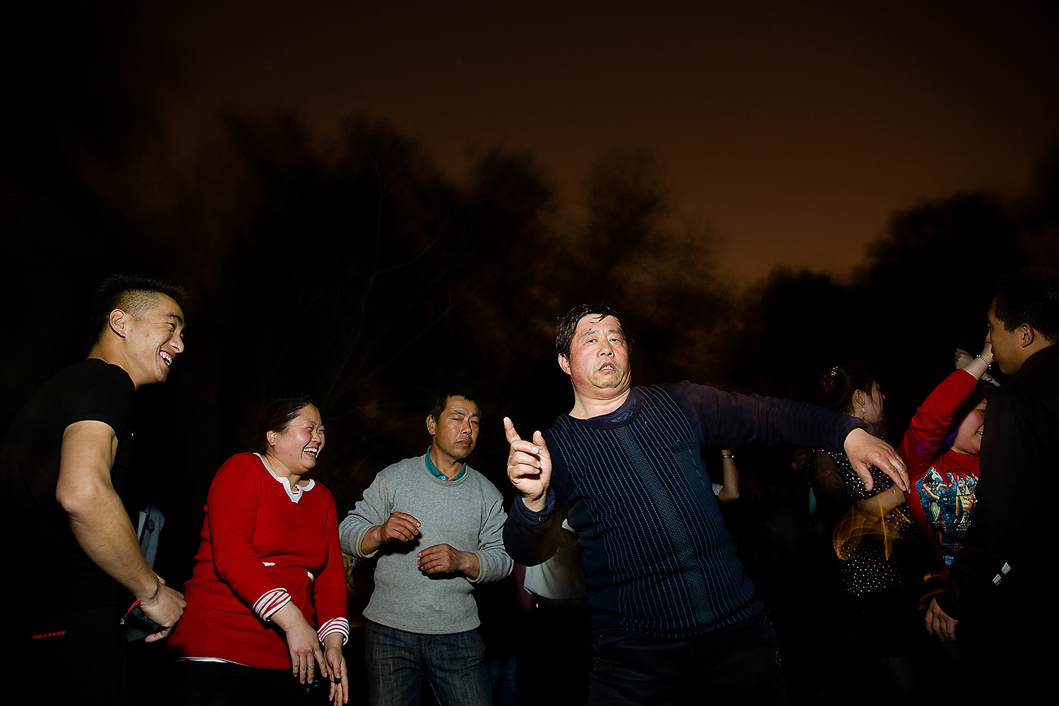Outdoor disco dancing in Zizhuyuan Park, Beijing. Photo by Wu Hao @wuhaophotography