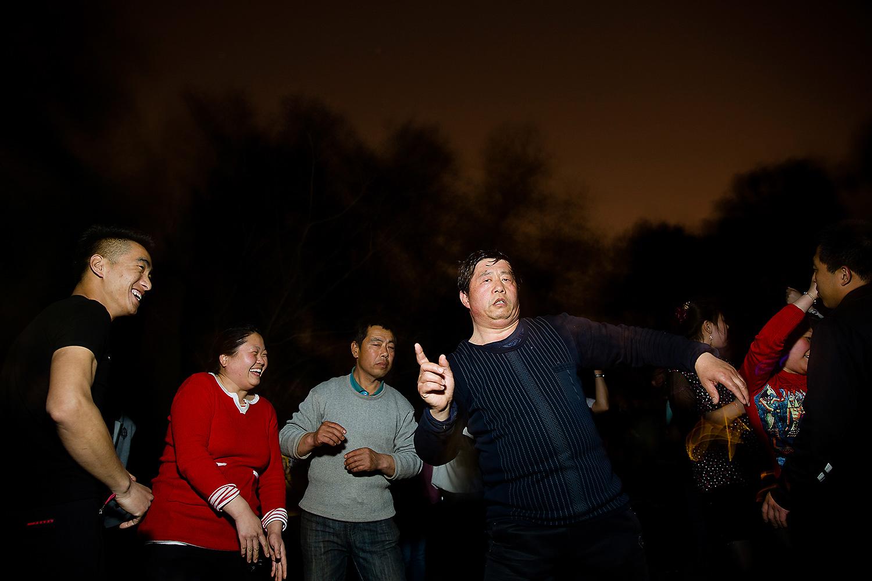 Outdoor disco dancing in Zizhuyuan Park, Beijing. Photo by Wu Hao @wuhaophotography