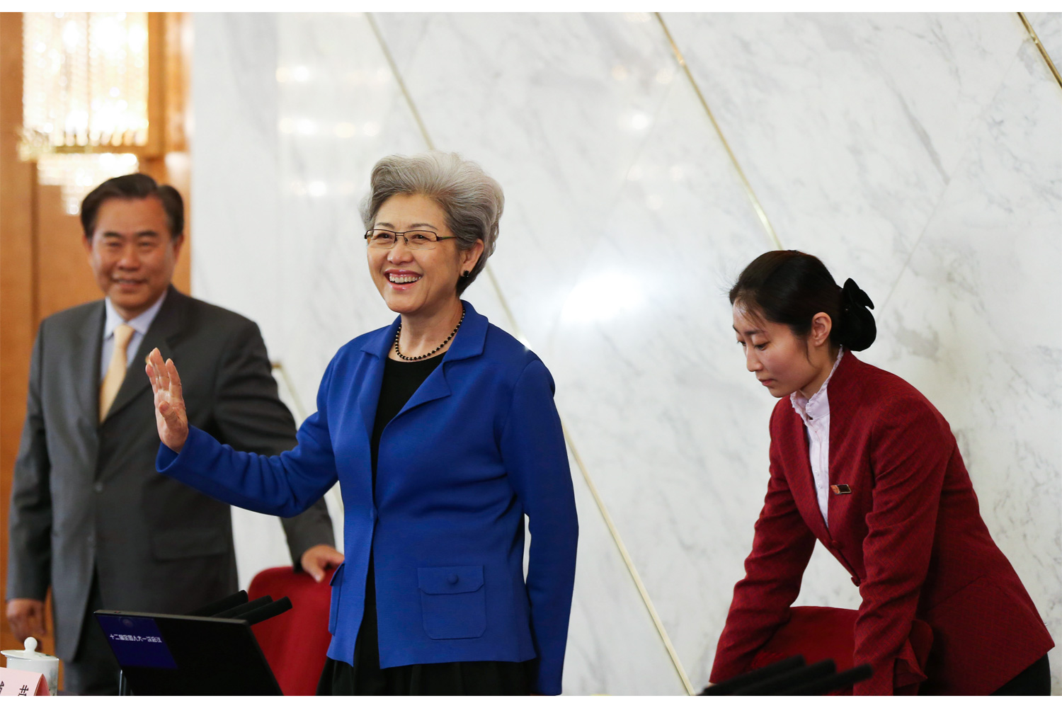 """Vice Foreign Minister Fu Ying attends a press conference during the """"two sessions,"""" March 4, 2013. Fu is the first female spokesperson for the National People's Congress. Before assuming her role as Vice Foreign Minister, she served as the Chinese ambassador to the United Kingdom."""