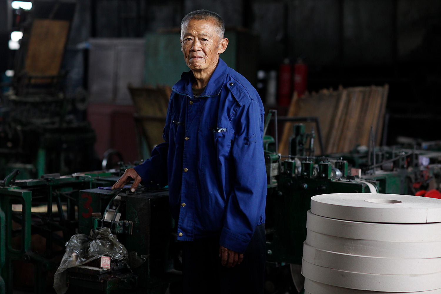 Lu Guangshun began working in the match factory in March 1968. His job was the envy of others in town. Now 73, he says the factory's heyday was from 1987 to 1997.