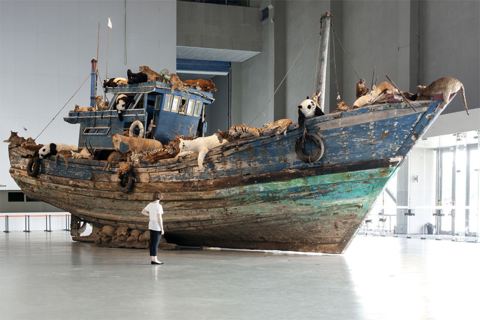"An installation view of ""The Ninth Wave,"" at the Power Station of Art gallery in Shanghai, 2014. (Photo by Zhang Feiyu, courtesy Cai Studio)"
