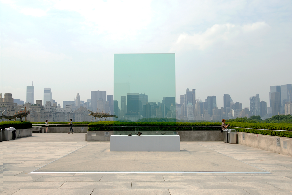 """Transparent Monument,"" on exhibit on the roof of the Metropolitan Museum of Art in New York, 2006. (Photo by Hiro Ihara, courtesy Cai Studio)"