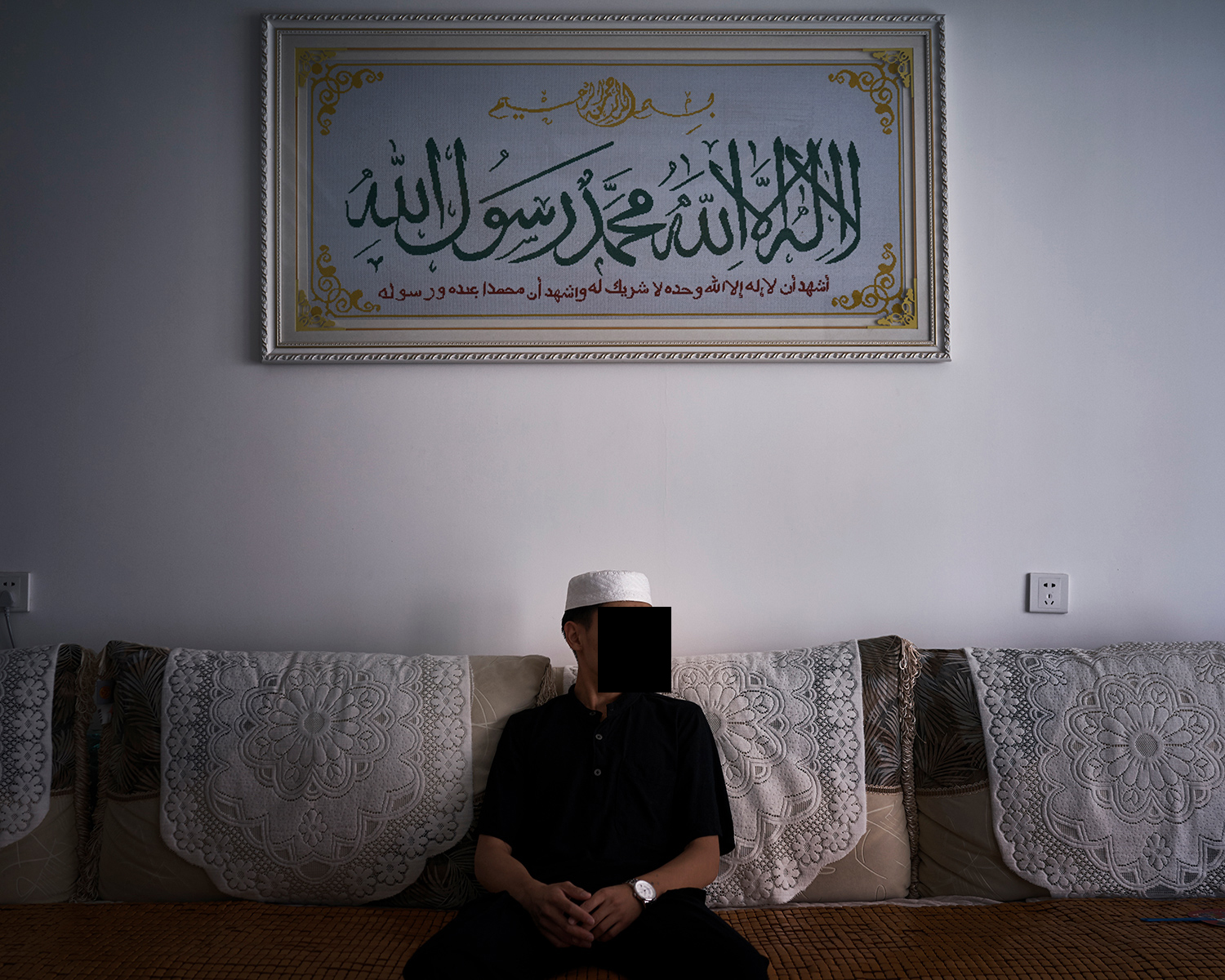 Ahmed sits at his home in Kaiyuan, June 2016. Worried his grades were poor, Ahmed didn't apply for any Islamic universities abroad. After graduating from the Arabic school in Nanguan Mosque, he started working for his parents' halal food business.
