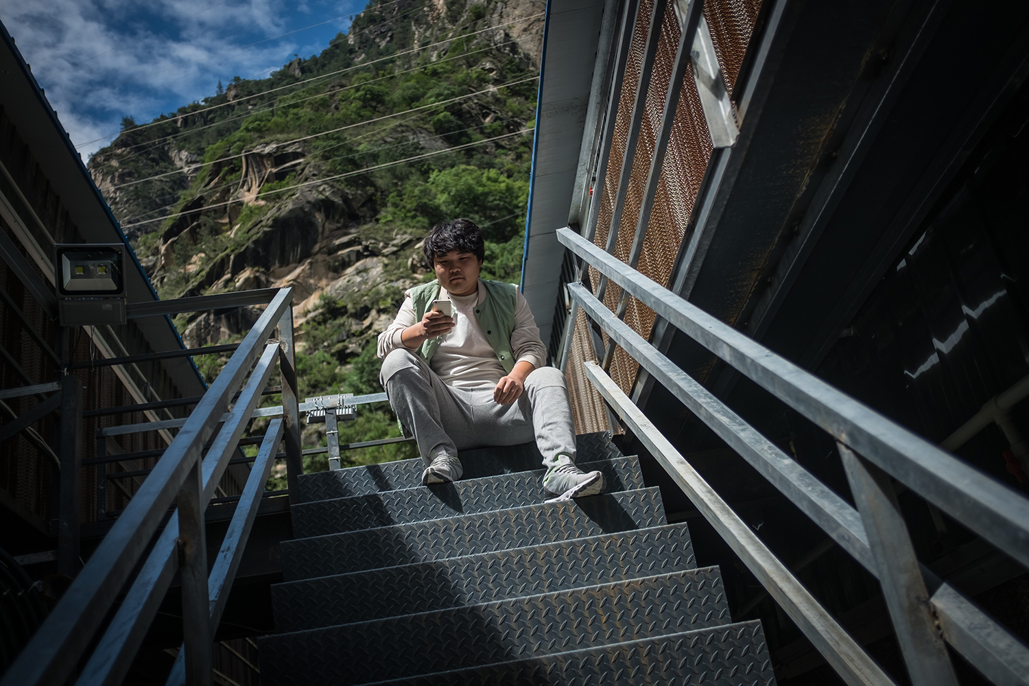 Sun, in his early twenties, is an employee of a Bitcoin mine in Ngawa Tibetan and Qiang Autonomous Prefecture, Sichuan province, September 28, 2016.