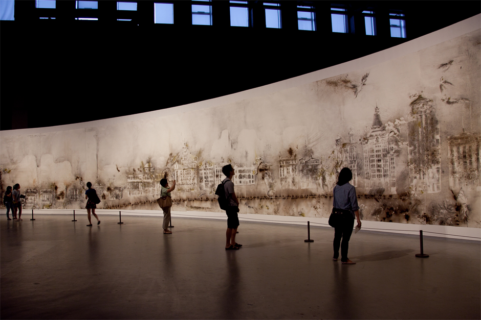 "An installation view of ""The Bund Without Us,"" at the Power Station of Art gallery, 2014. (Photo by Wen-You Cai, courtesy Cai Studio)"