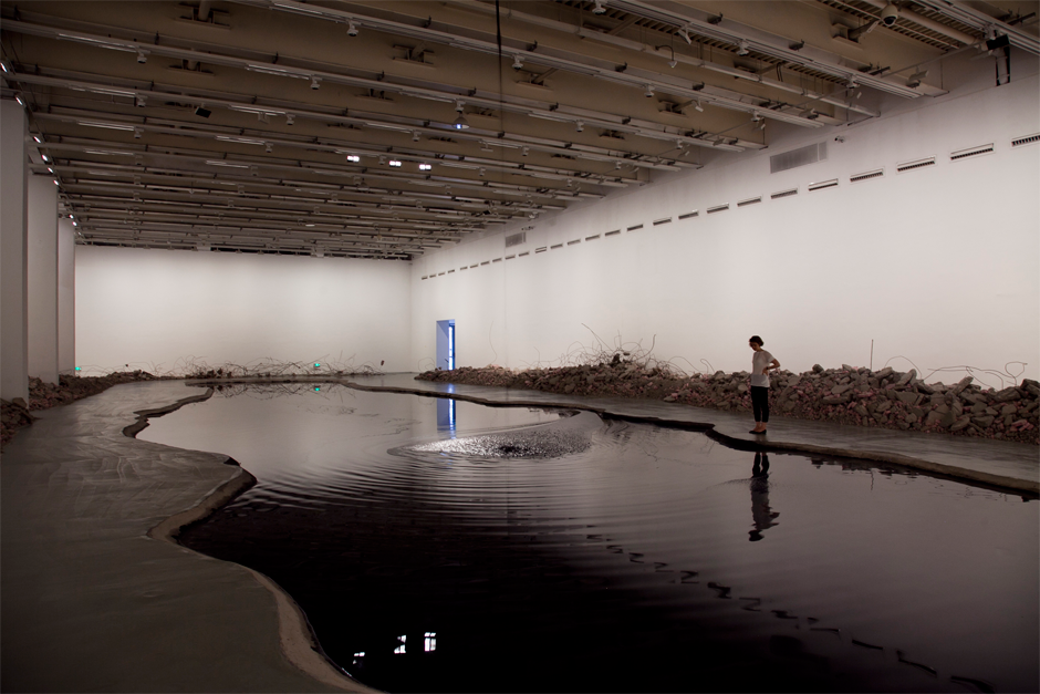 "An installation view of ""Silent Ink,"" at the Power Station of Art gallery, Shanghai, 2014. (Photo by Wen-You Cai, courtesy Cai Studio)"