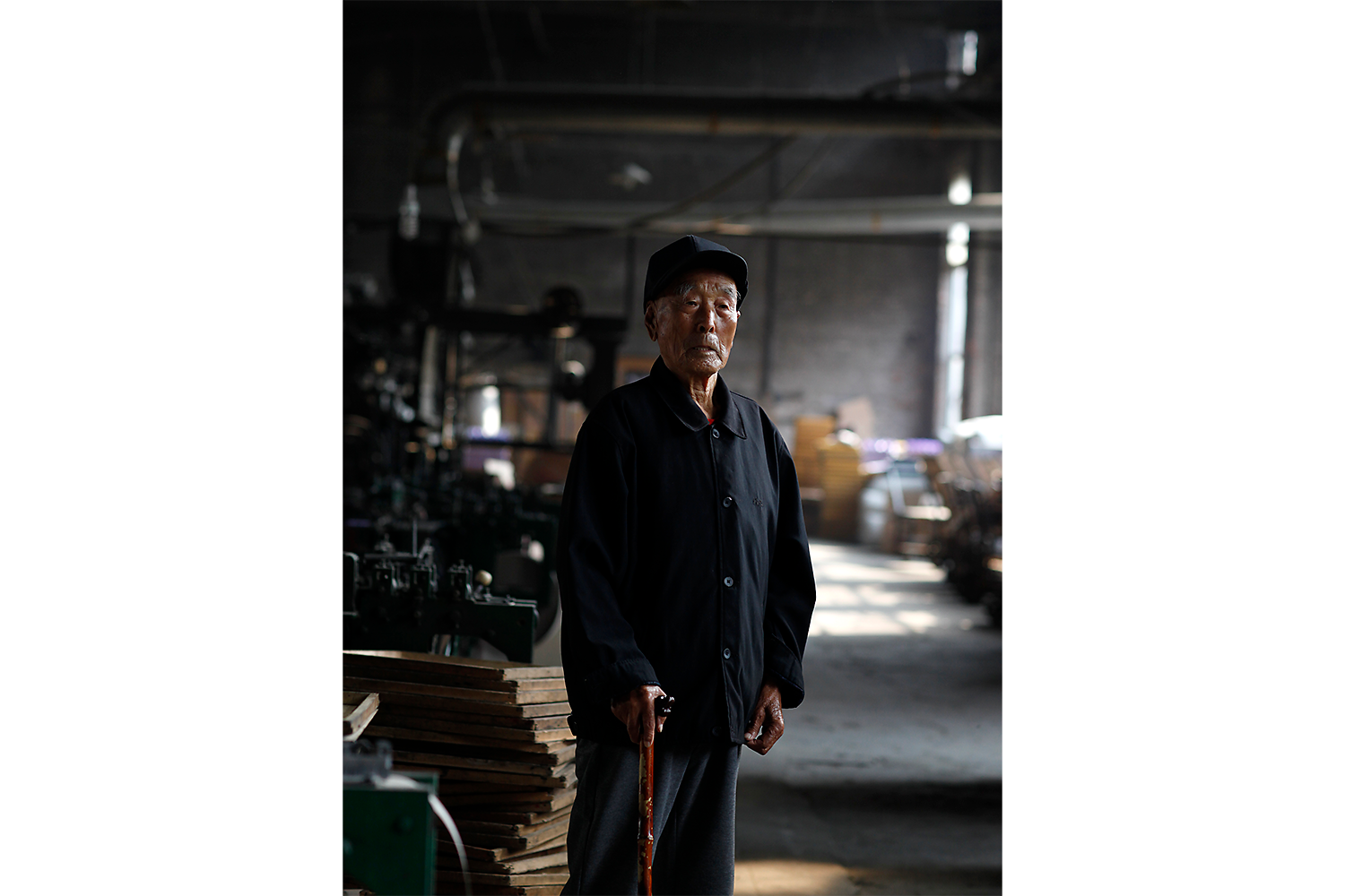 Liu Zhenpeng was among the first group of workers hired by the factory in 1967. He is now 97, and he worked at the factory for three decades.