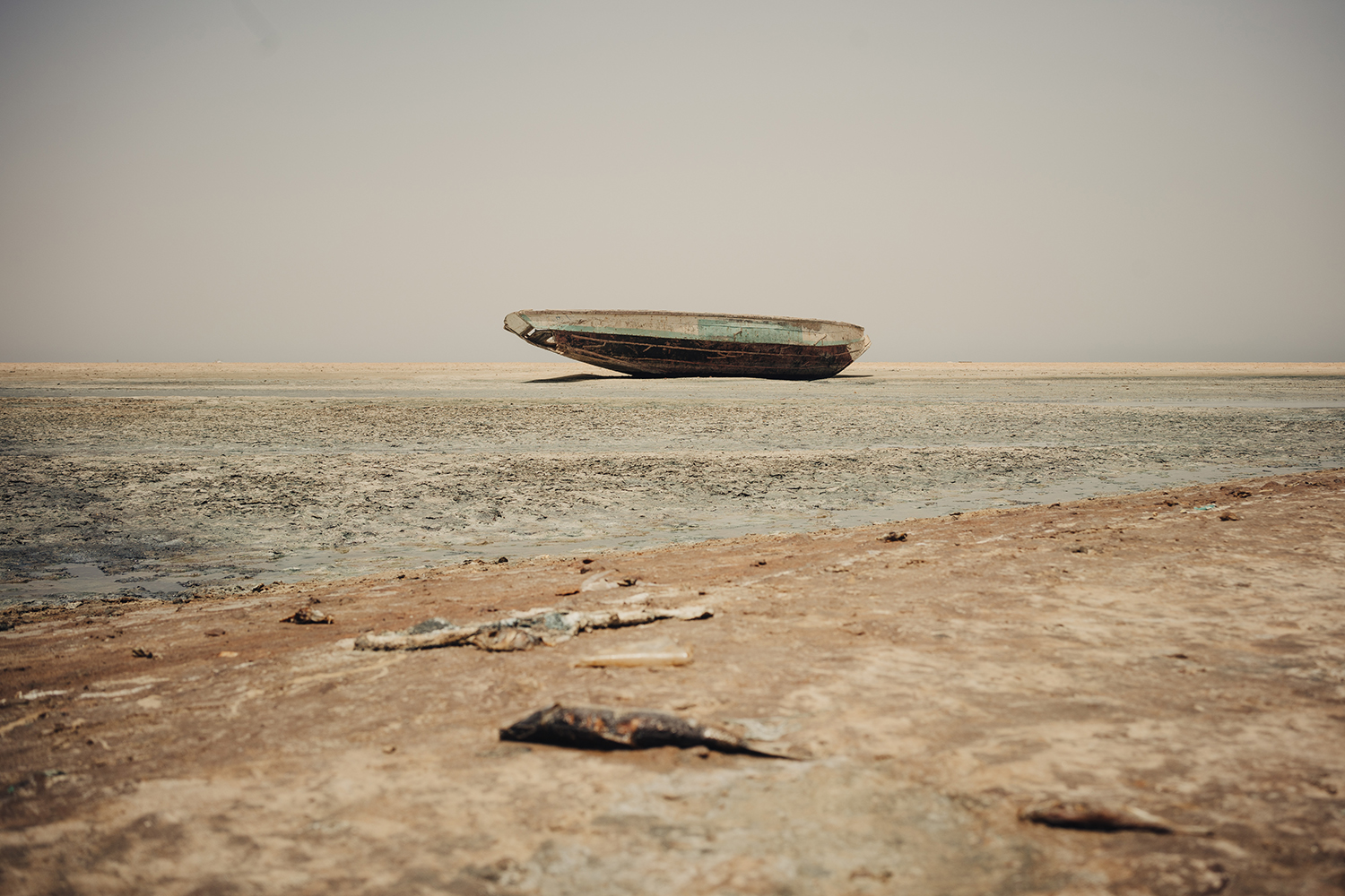 The beach near Lem Seafood fishmeal factory has become a squalid mess of debris and a stench from the wastewater released by factories like Lem Seafood permeates the air, June 30, 2016. In recent years, the Mauritanian government has welcomed Chinese investment in the fishing industry. But according to fish-product factory employees, management is lax.