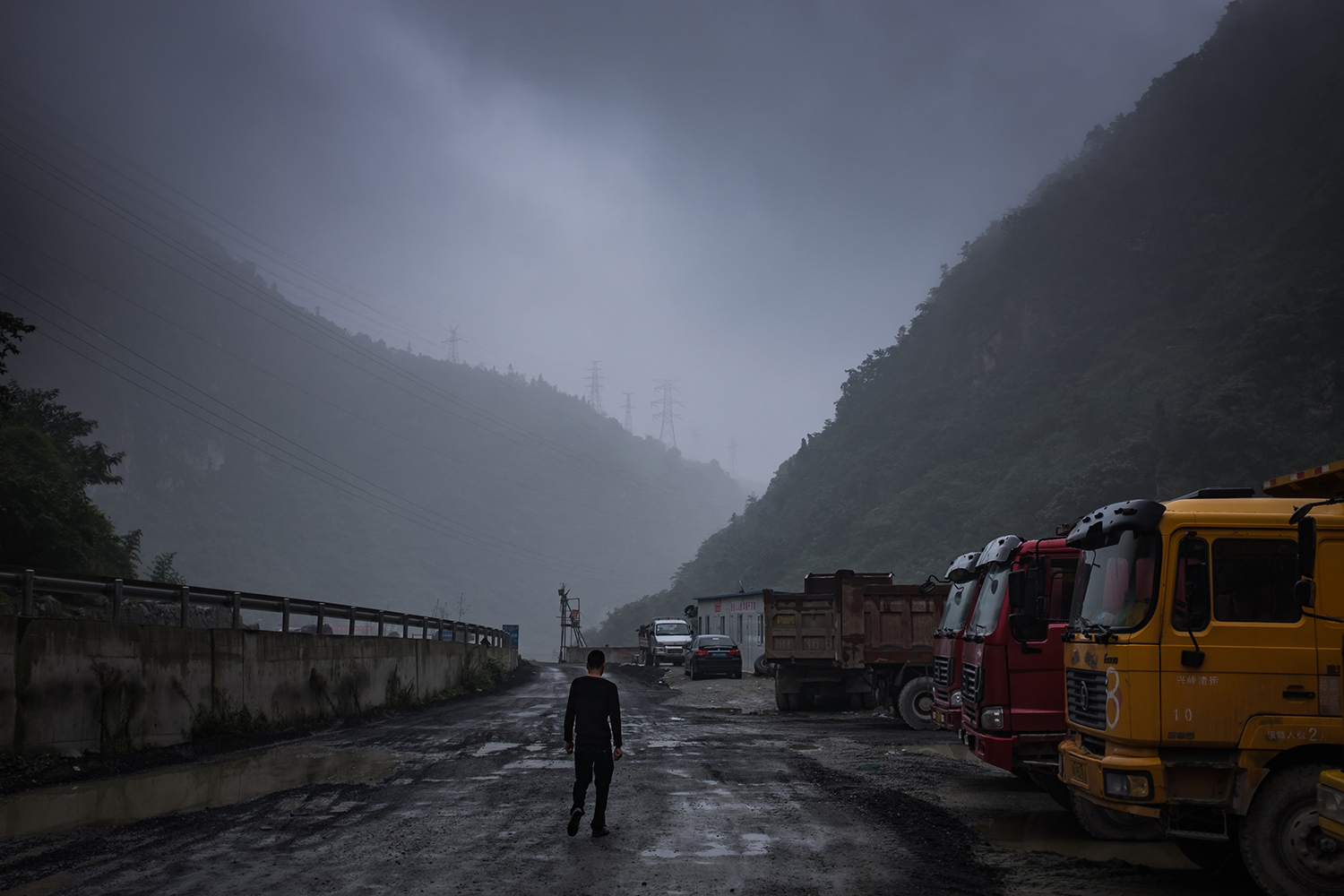 A mountain road winds toward Bitcoin mines, in Ngawa Tibetan and Qiang Autonomous Prefecture, Sichuan province, September 26, 2016.