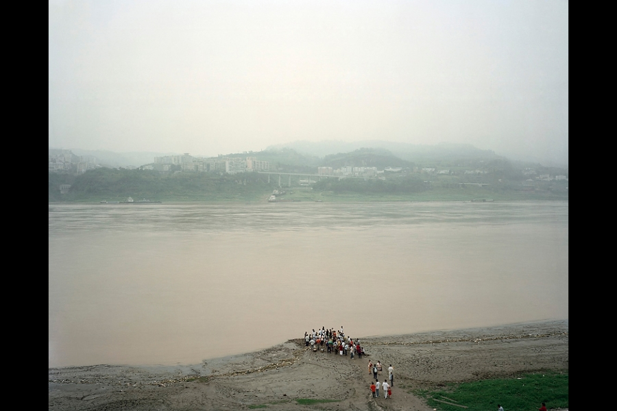 Waiting for a ferry on the Yangtze River, Fengdu County, Chongqing.