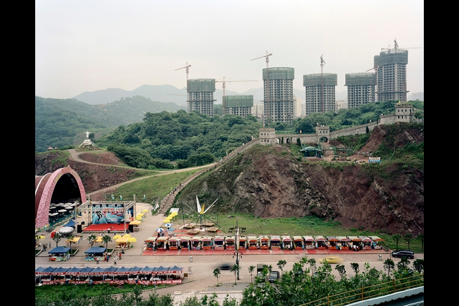 A replica of the Great Wall at a theme park in Chongqing.