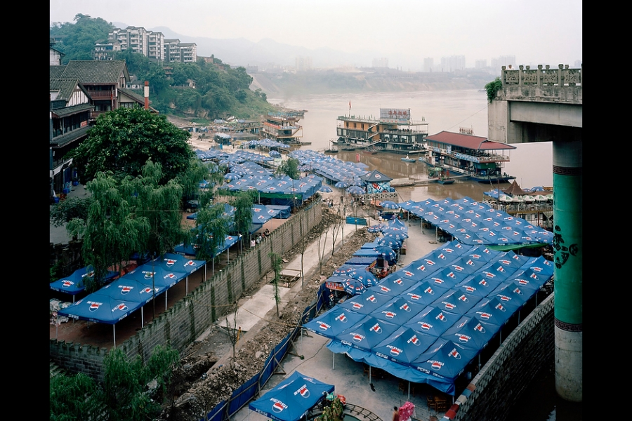 Part of Ciqikou, a 1,000-year-old town by Jialing River, Chongqing.