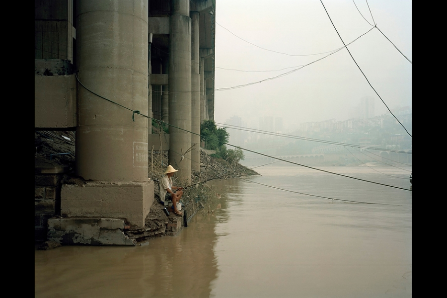 Fishing on Chongqing's Jialing River.
