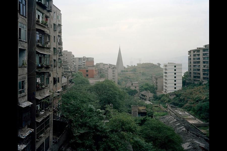 A church near the Yangtze River in Fengdu County, Chongqing.