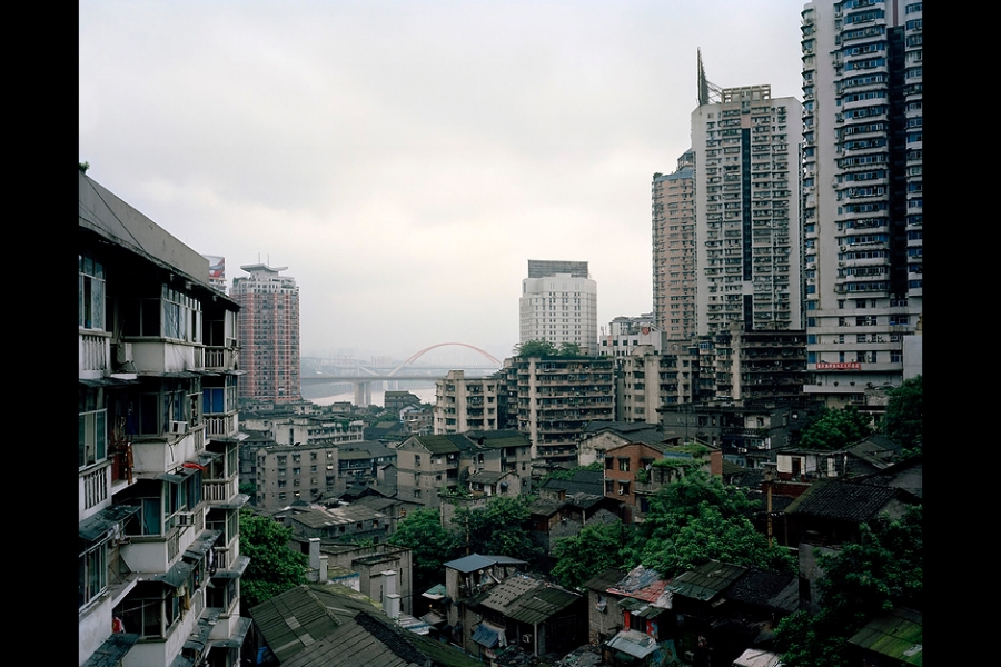 Shibati, a slum area in central Chongqing, which used to be famous for its well-preserved traditional lifestyle. The whole area has now been demolished.