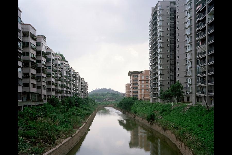 A canal in Chongqing.
