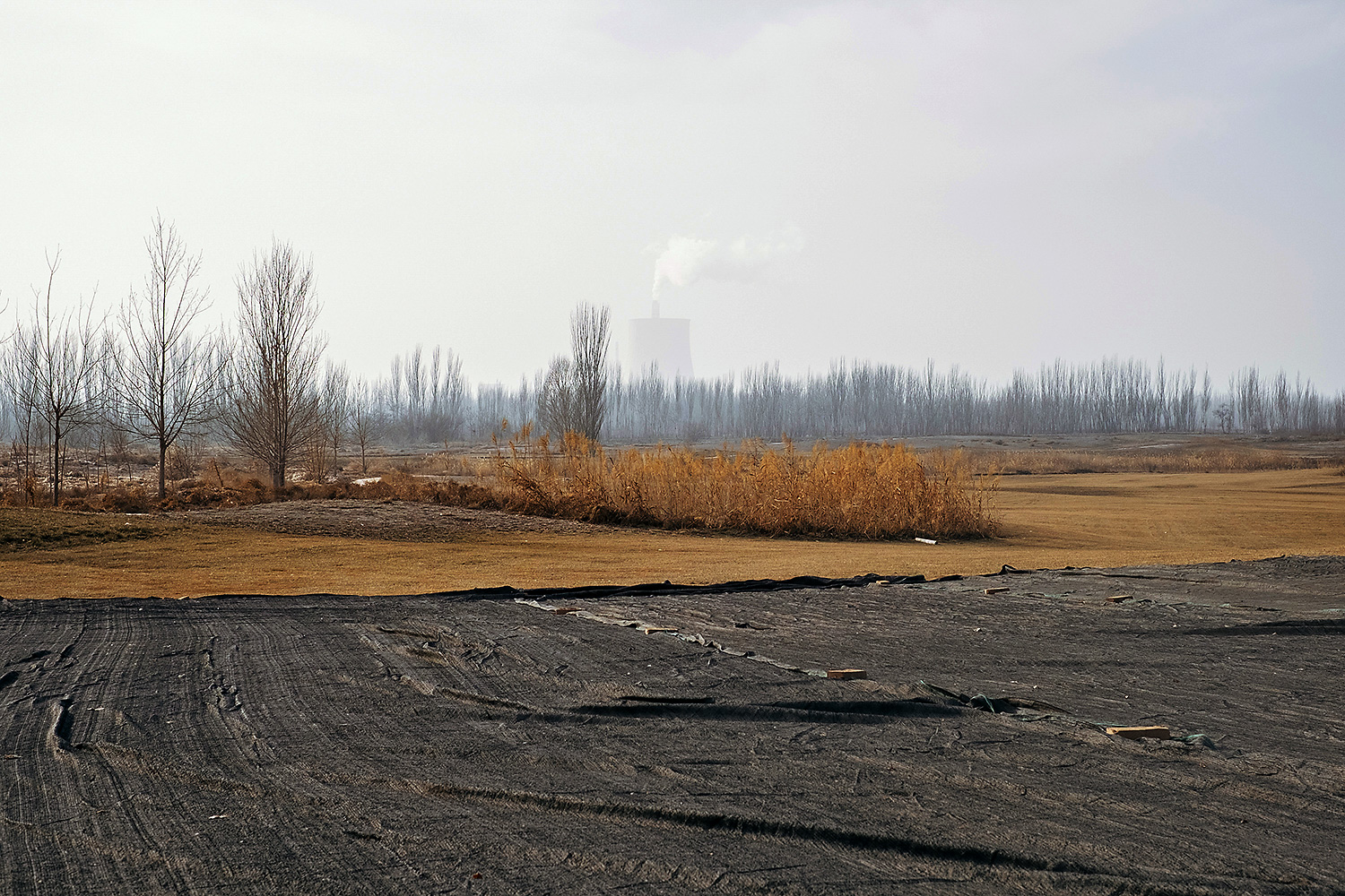 Once arable farmland, this area in the Kashgar suburbs has been converted to accommodate enterprises like this golf course, funded by a Beijing-based company.