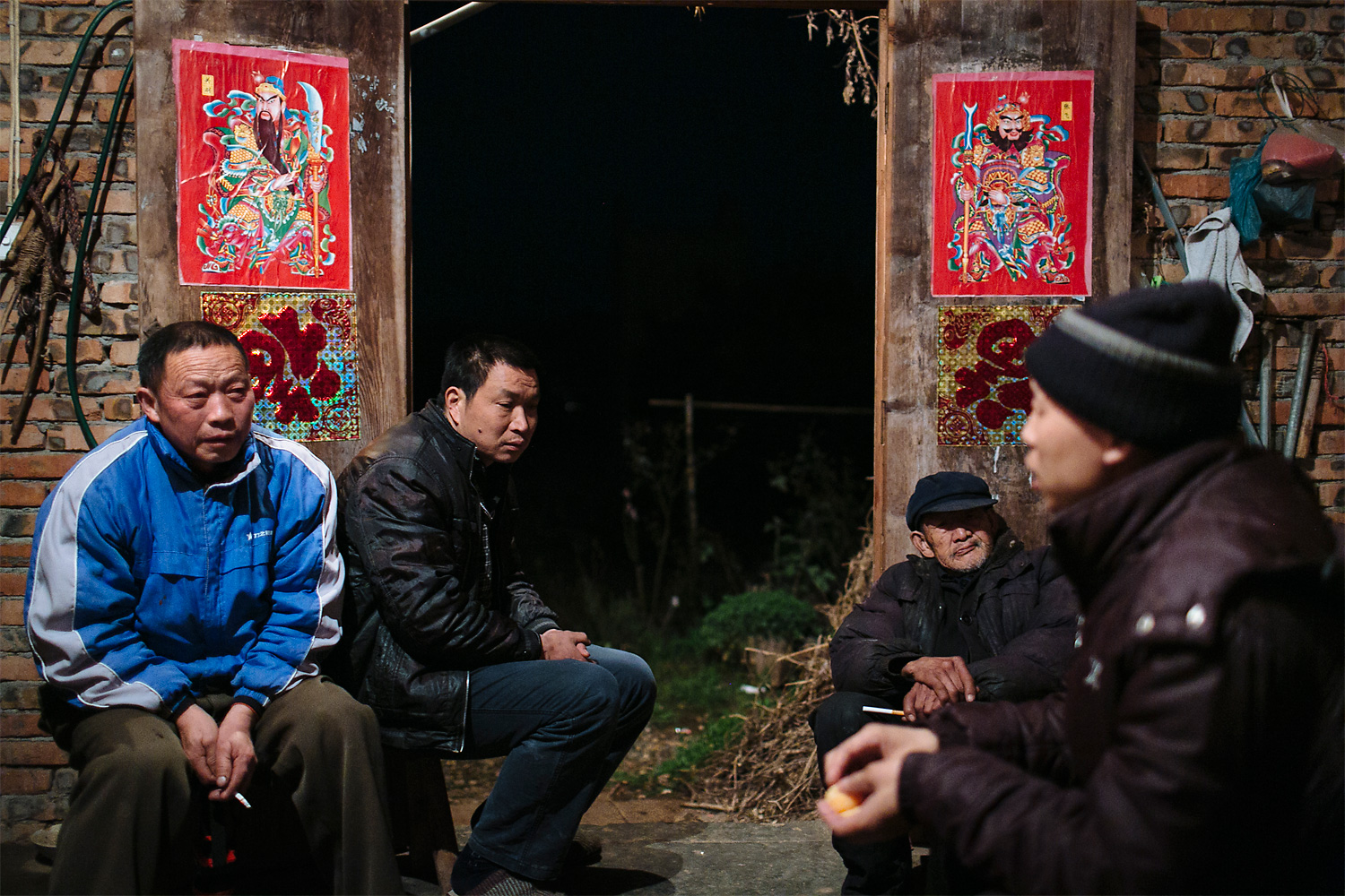 The village cadres meet with Li Mingjin to ask about his situation and to see if there's a way to help the family financially.