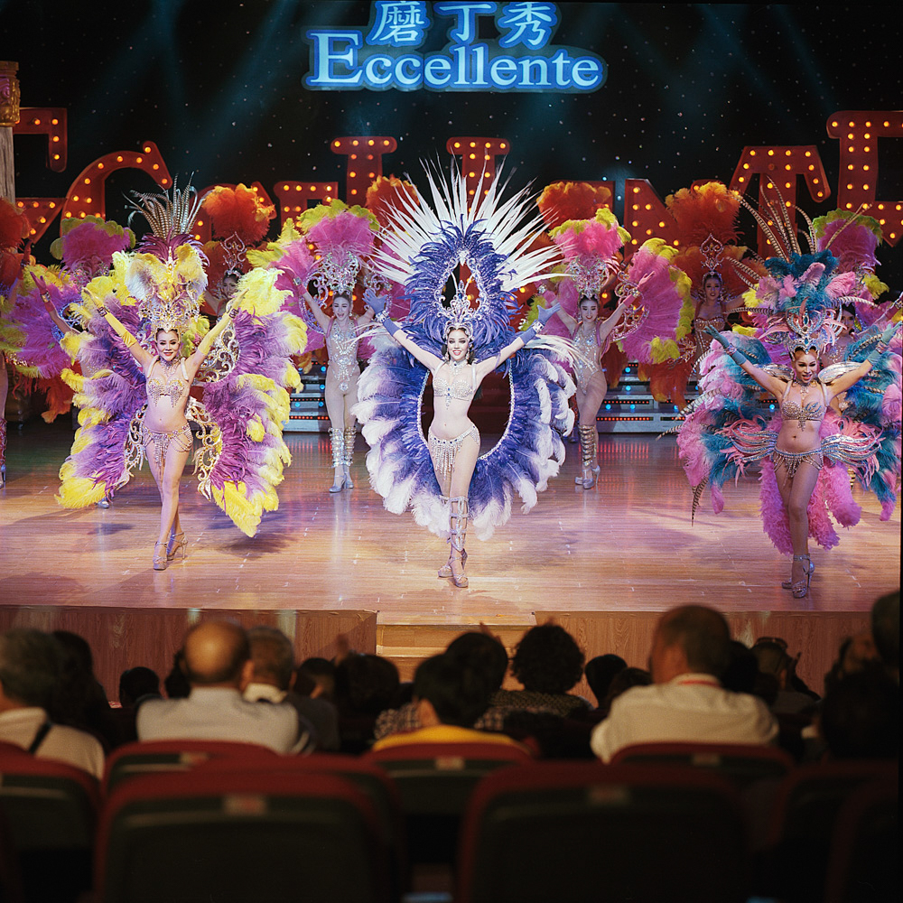 A group of Thai trangender dancers perform at the Eccellente Cabaret, April 16, 2019.