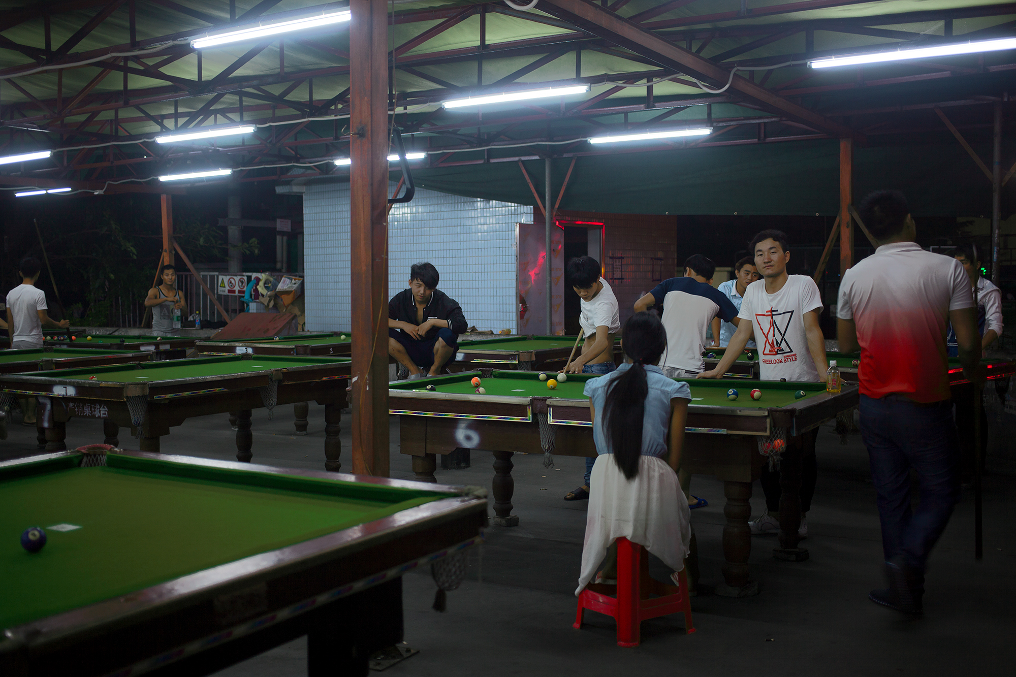 A leisure and recreation space for Foxconn employees, on the premises of the factory, Shenzhen, China, 2016