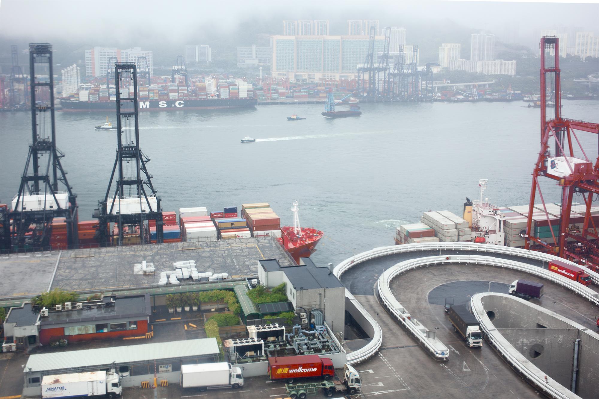 ATL Logistics Centre Hong Kong, at the Port of Hong Kong, 2016.