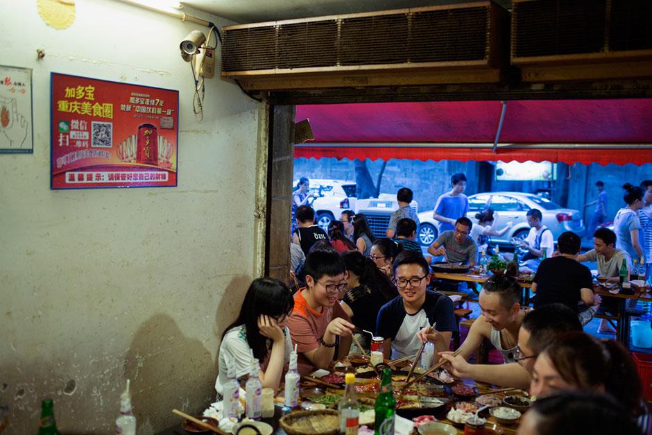 Meal time at Gang Shan Zhazha.