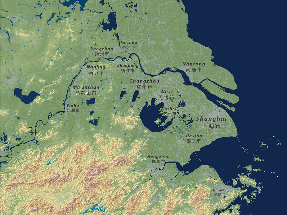 Submerged ChinaFile - Map of us if all the glaciers melted