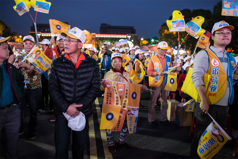 Supporters attend a Minkuotang rally in Zhubei City.