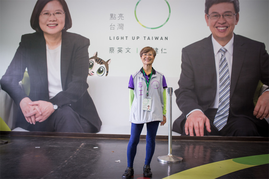 Nellie Shen, 73, has lived in the United States for years, but returned to Taiwan for the 2016 election.