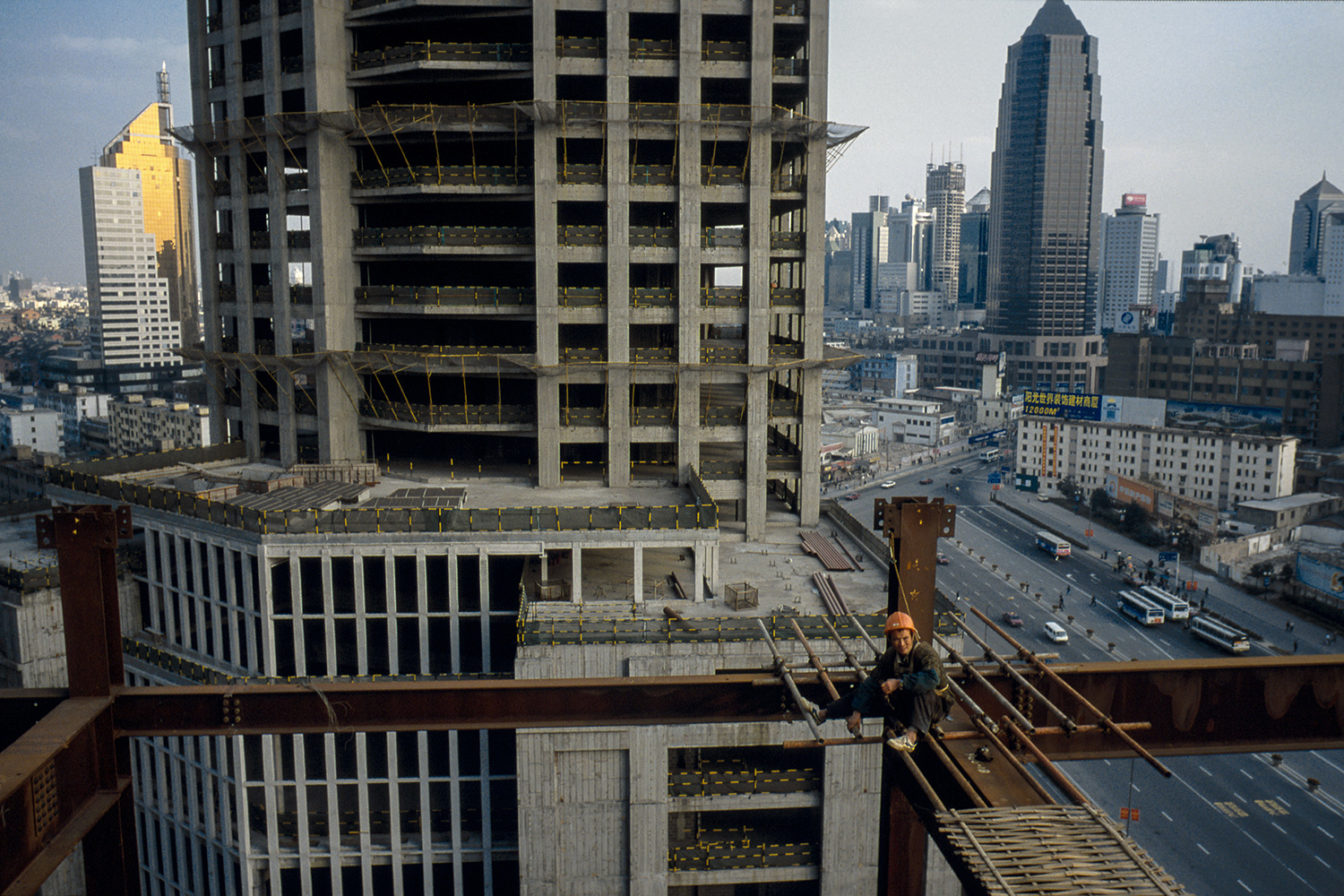 Steel use climbed as construction projects became more ambitious in size and style, 1998.