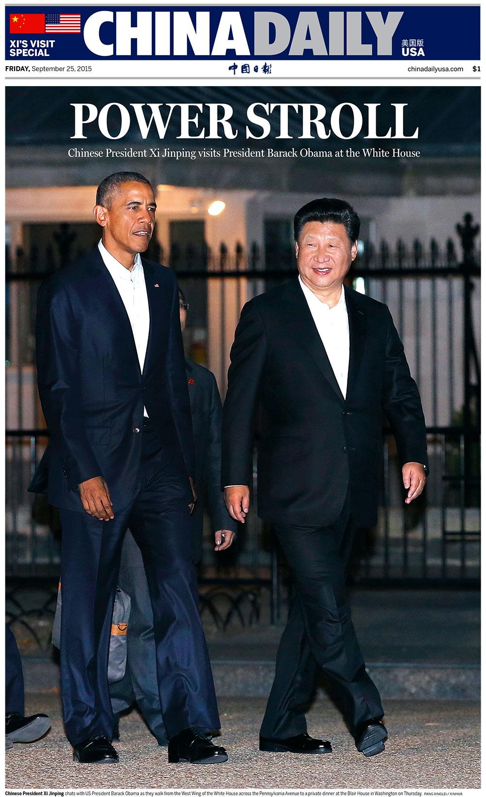 'China Daily,' U.S. edition, September 25, 2015.