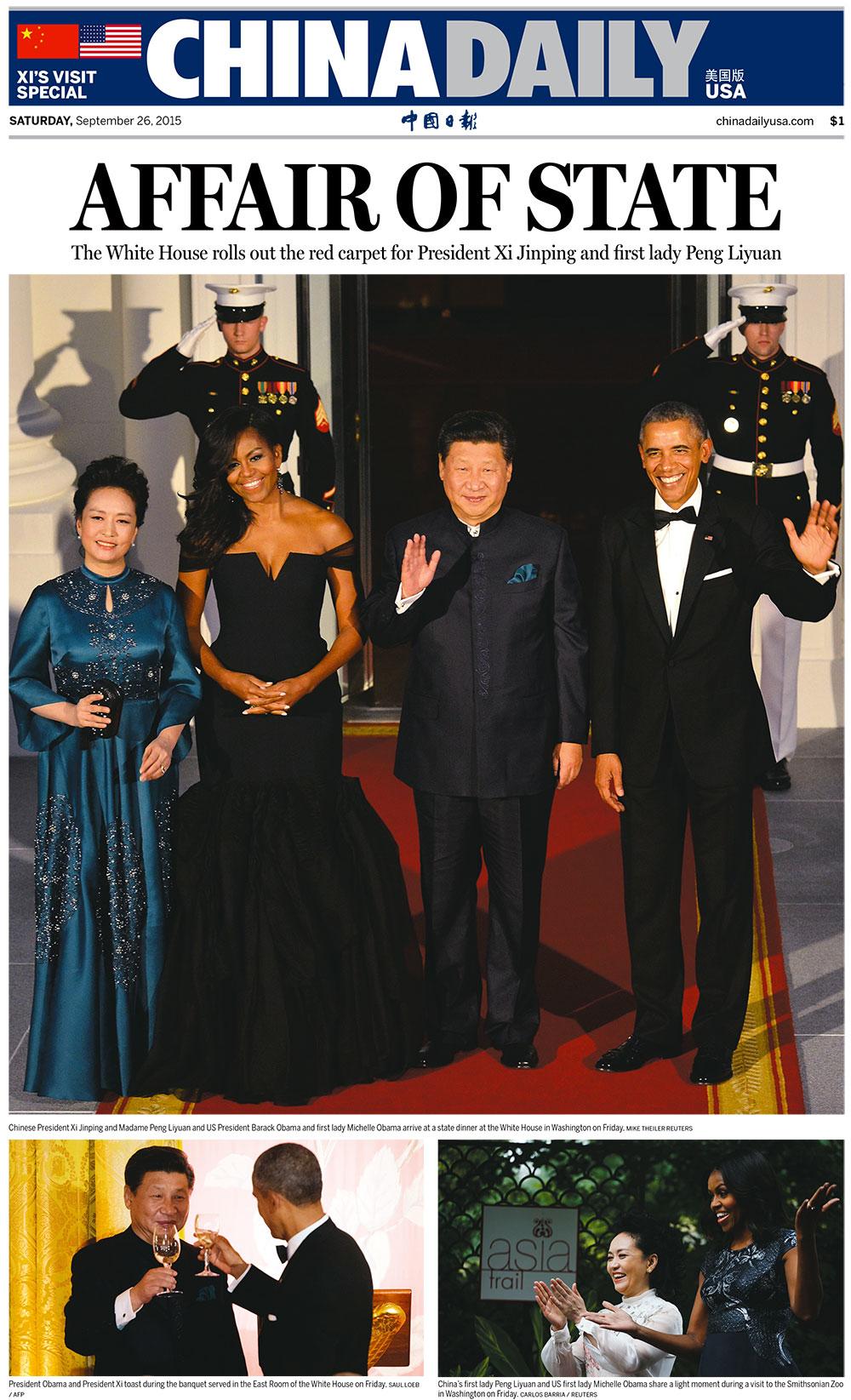 'China Daily,' U.S. edition, September 26, 2015.