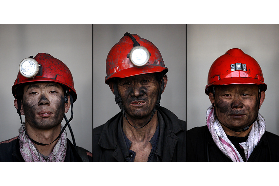 Sun Qinshan, 34, Yin Guoshi, 46, Xie Haifeng, 47. Together, they have a cumulative 49 years of experience working in the mines.