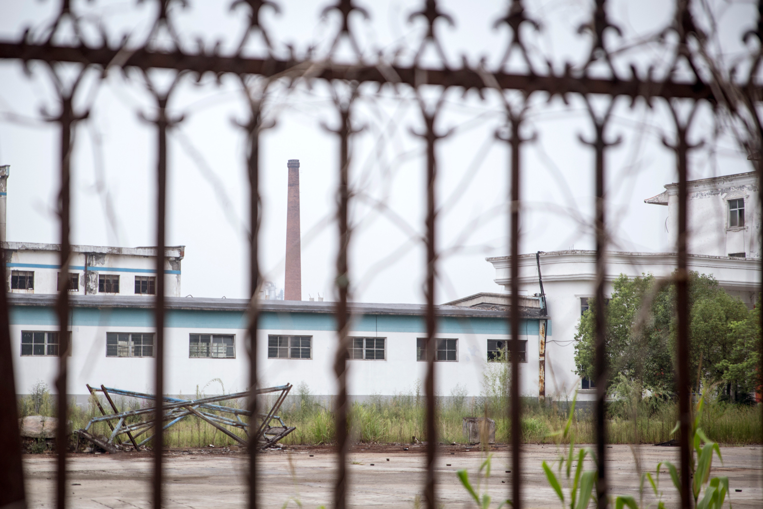 Factories lie abandoned in Xichuan. Xichuan Mayor Pei Jianjun says that 238 factories in the area, many of them brick or paper factories, have been shut down.