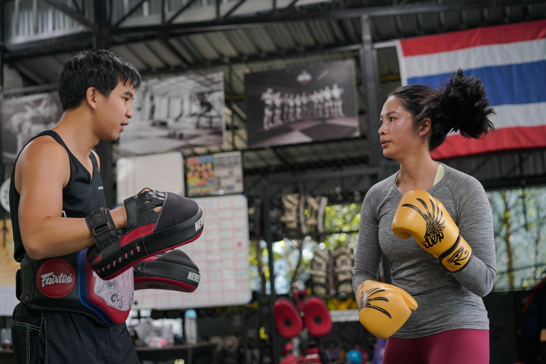 Parents who accompany their children to study in Thailand can receive a non-immigrant visa, which does not allow them to work, so 33-year-old Ding has a lot of spare time. She practices Thai boxing twice a week to stay motivated, after leaving her job as a yoga teacher in China.