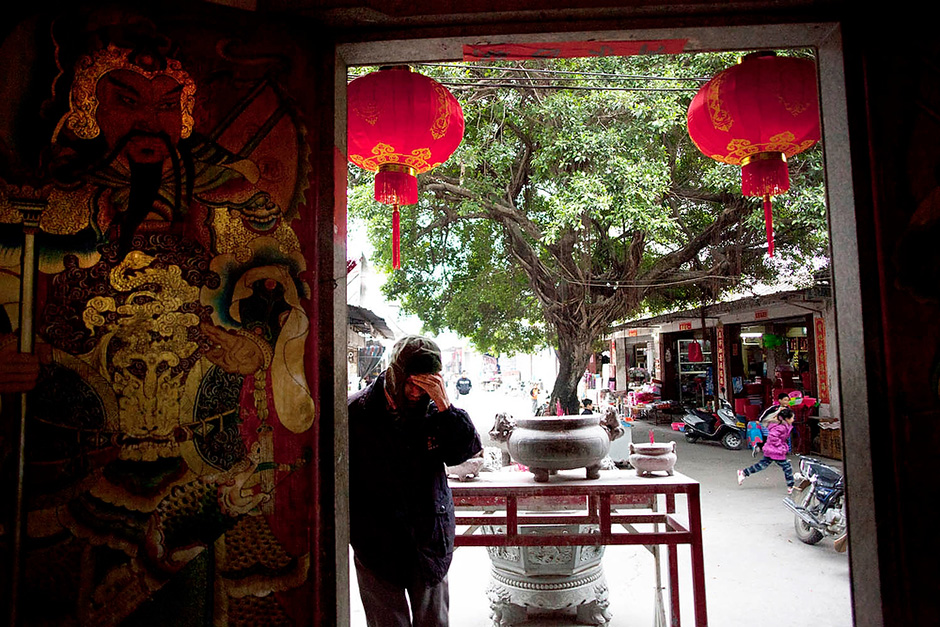 Wukan is dotted with temples that feature a mix of Taoism, Buddhism, and folk religion. There is a small percentage of Catholics in the village, but most villagers observe a range of folk festivals and pray on important days in the lunar calendar.